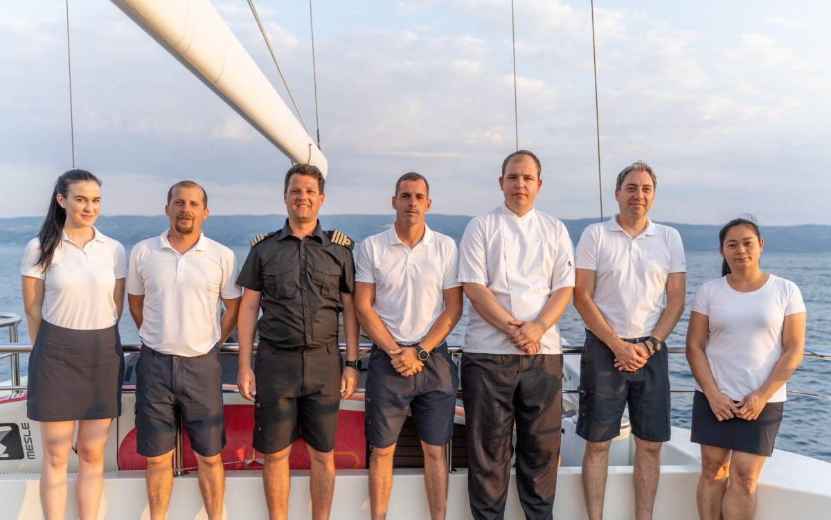 MEET THE CREW OF THE LUXURY YACHT NAVILUX